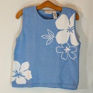 Liz Claiborne Sweaters - Liz Claiborne Baby Blue Sleeveless Sweater L